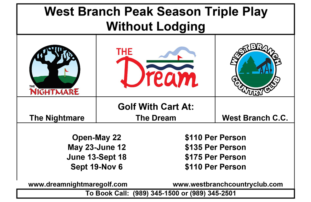 Peak Season Triple Play with Lodging