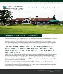 West Branch Country Club Launches New Website